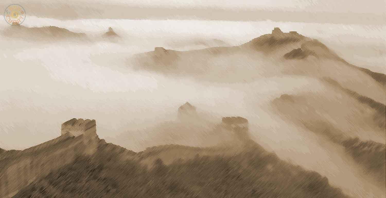 Chinesische Große Mauer in der Nähe von Peking