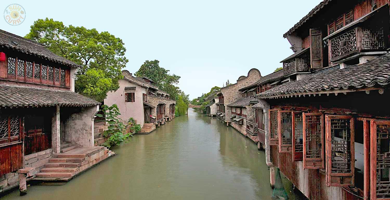 Wasserdorf Wuchsen westlich von Shanghai / China