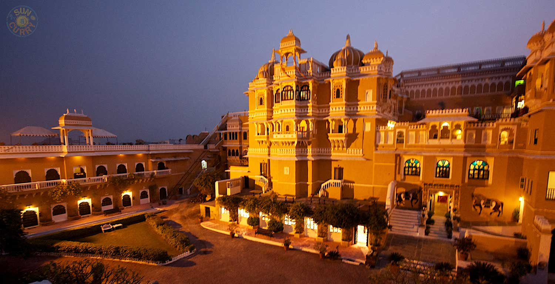 Heritage Hotel Deogarh Mahal, ein ehemaliger Maharadscha-Palast / Indien