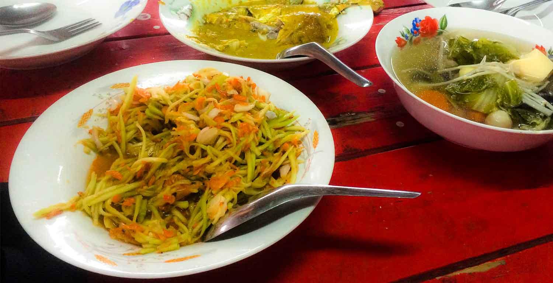 Papaya Salat fertig